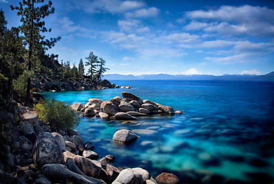 Tahoe Rocks Itself Blue  Lake Tahoe, you wear Planet Earth Blue so well!