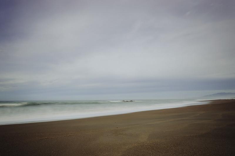 The beach in Cambria, California.