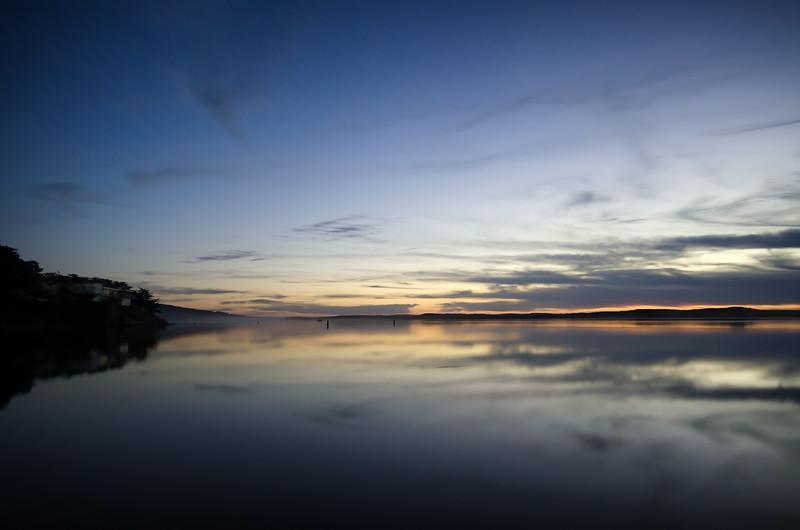 Morro Bay at sunset, long exposure.