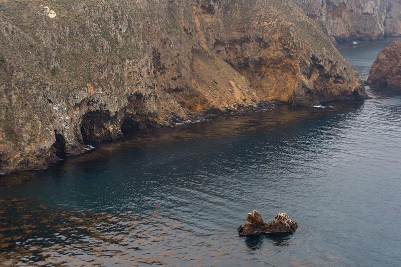 Kayakers, Santa Cruz Island