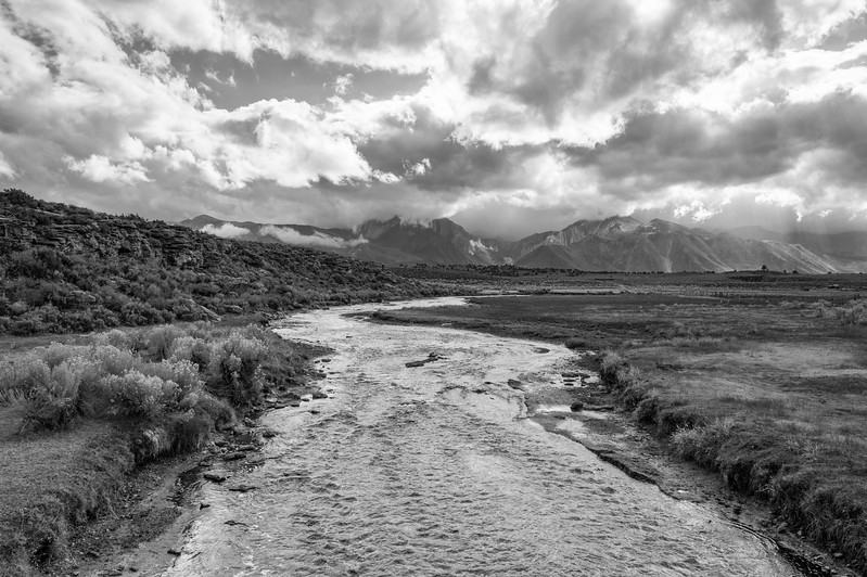 Hot Creek on a stormy day