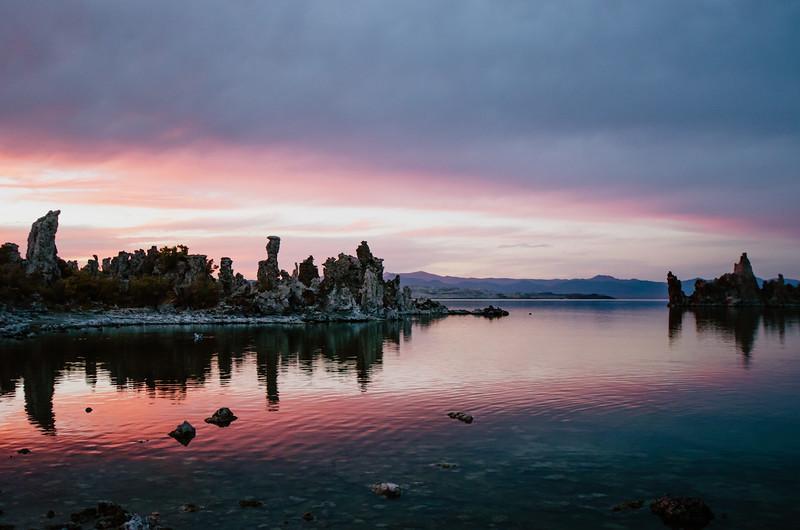 Sunset over Mono Lake, Eastern Sierra.
