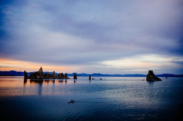 Blue hour over Mono Lake, Eastern Sierra