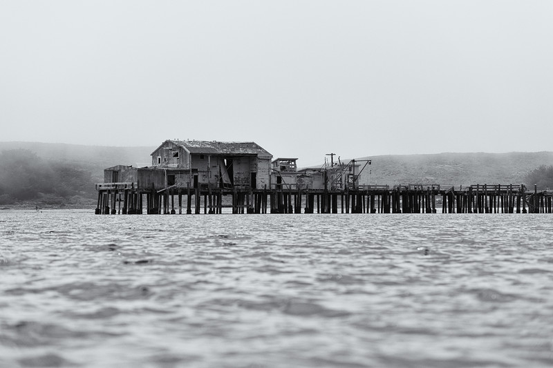 Old sardine plan and pier, Half Moon Bay, CA