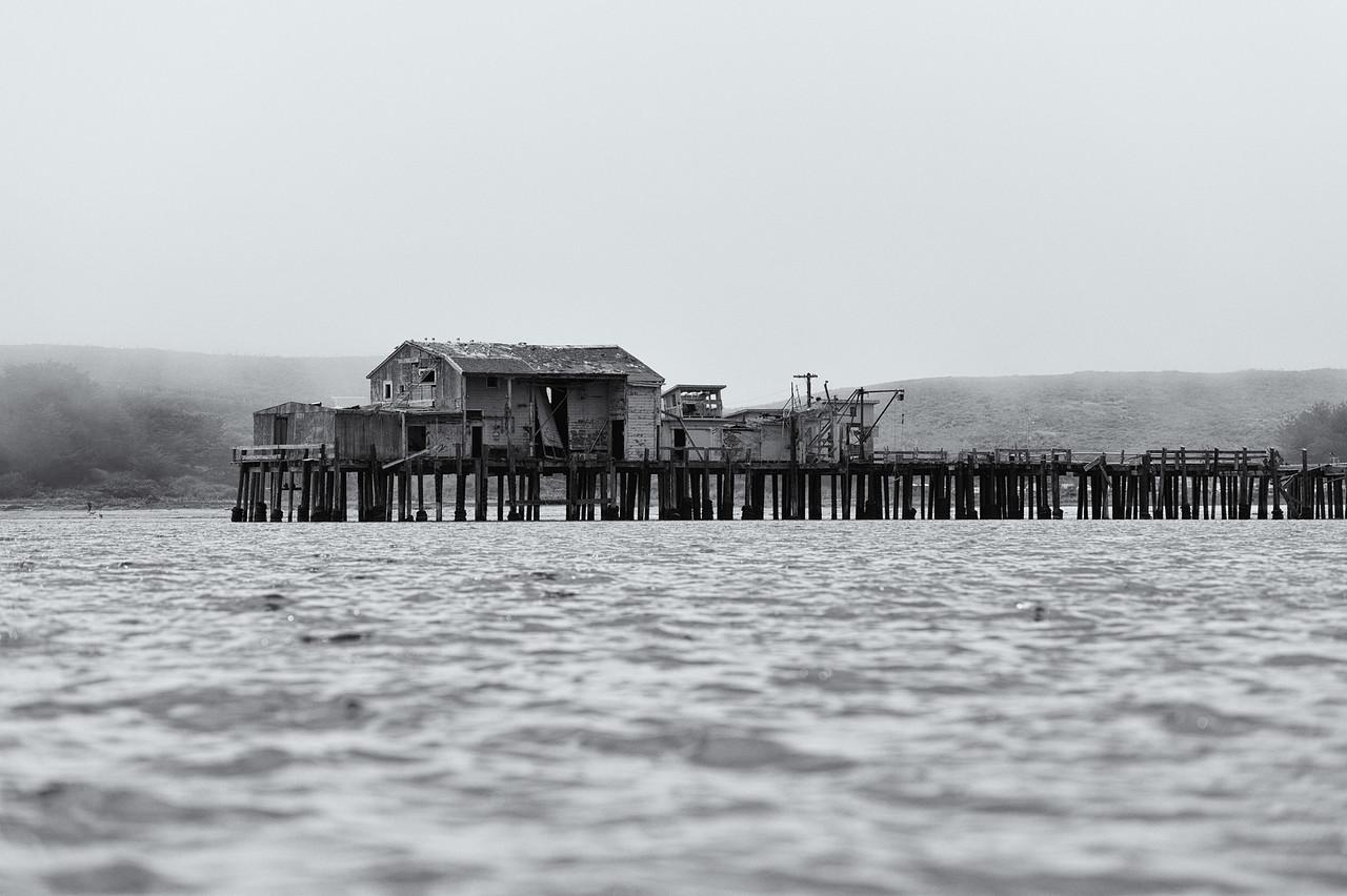 Old sardine plan and pier, Half Moon Bay, CA