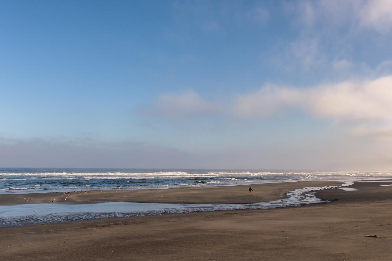An empty MacKerricher State Beach at sunrise, Fort Bragg, CA