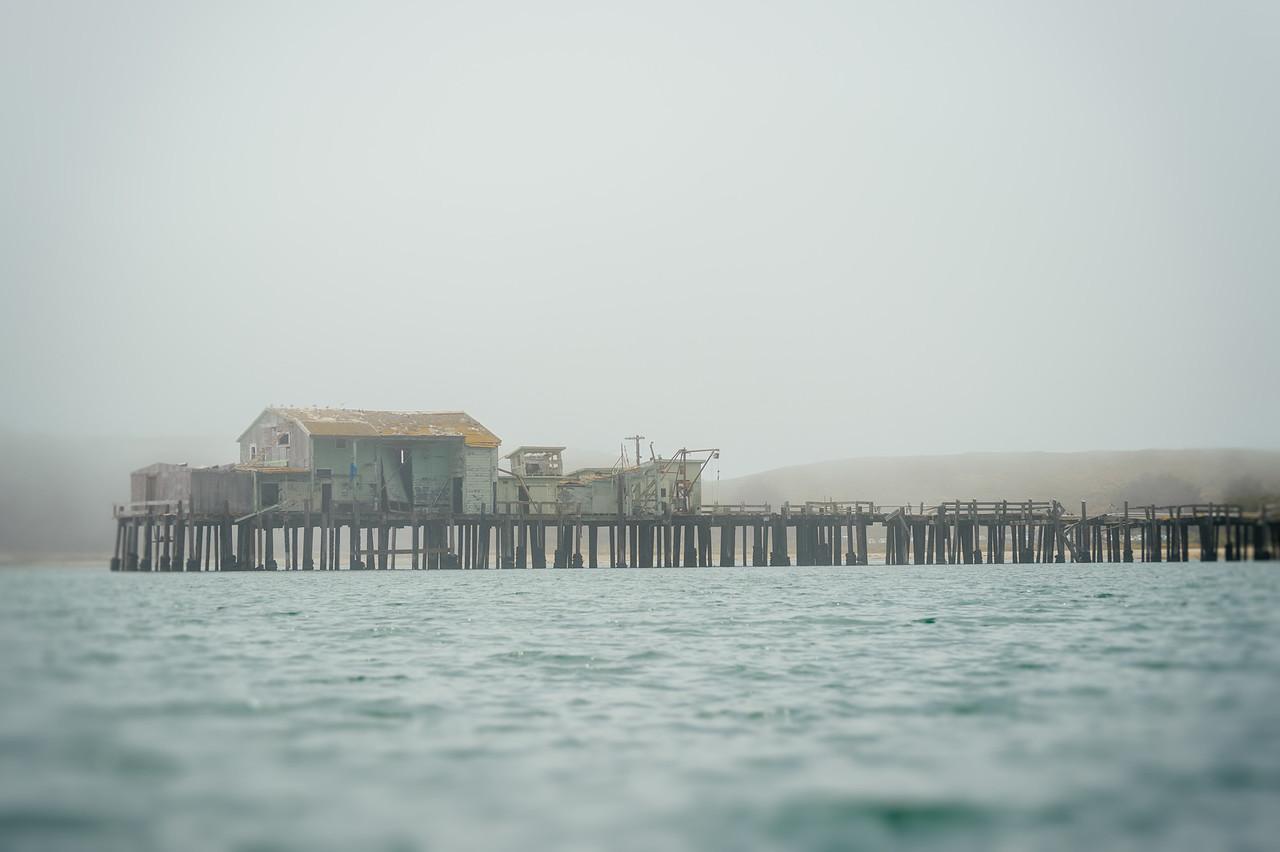 Old sardine plant and pier, Half Moon Bay, CA