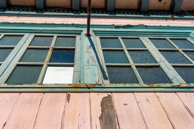Old building, downtown Fort Bragg, CA