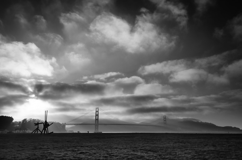 Golden Gate Bridge from Crissy Field, July 14, 2013.