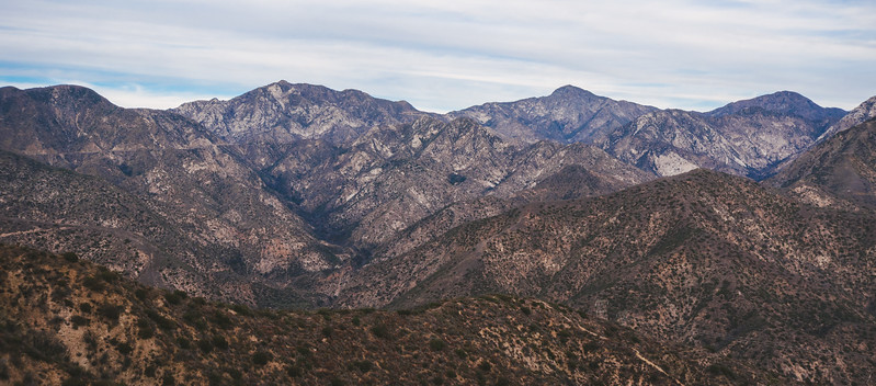 The front range of the San Gabriel Mountains.