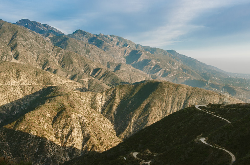 A view of the San Gabriel Mountain front range.