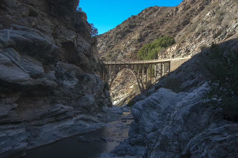 The Bridge to Nowhere, East Fork of San Gabriel River, Angeles National Forest.