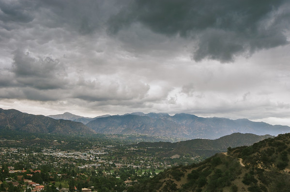View toward Montrose & La Canada from Beaudry North fire road in the Verdugo Mountains.