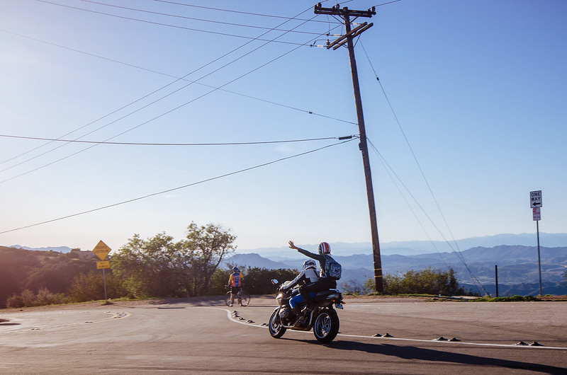 Motorcyclists, Santa Monica Mountains