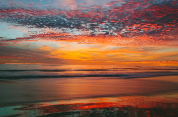 A spectacular sunset at Arroyo Burro beach in Santa Barbara in Dec. 2013.