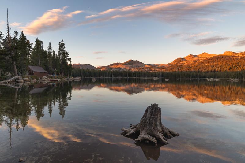 Sunset over Wrights Lake, Eldorado National Forest