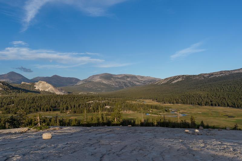 View of Tuolumne Meadows from Potluck Dome, Yosemite