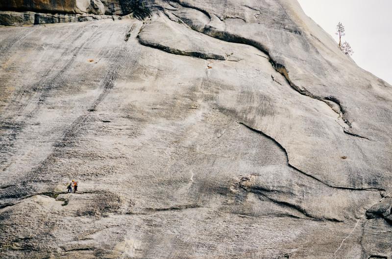 Climbers along Tioga Road, Yosemite