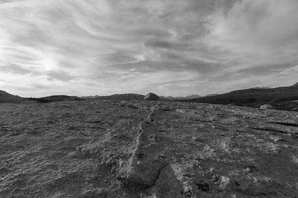Glacial erratic, Potluck Dome, Yosemite
