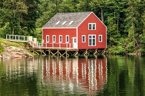 Boathouse in Maine