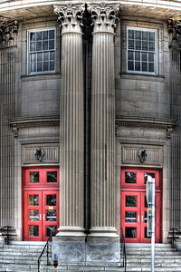 Two Red Front Door