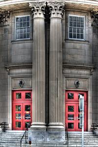 Two Red Front Door