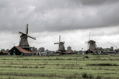 Three Windmills North Holland