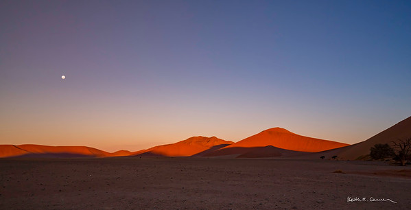 Panoramic view of Sossusvlei