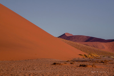 Layers of sand dunes at Sossusvlei