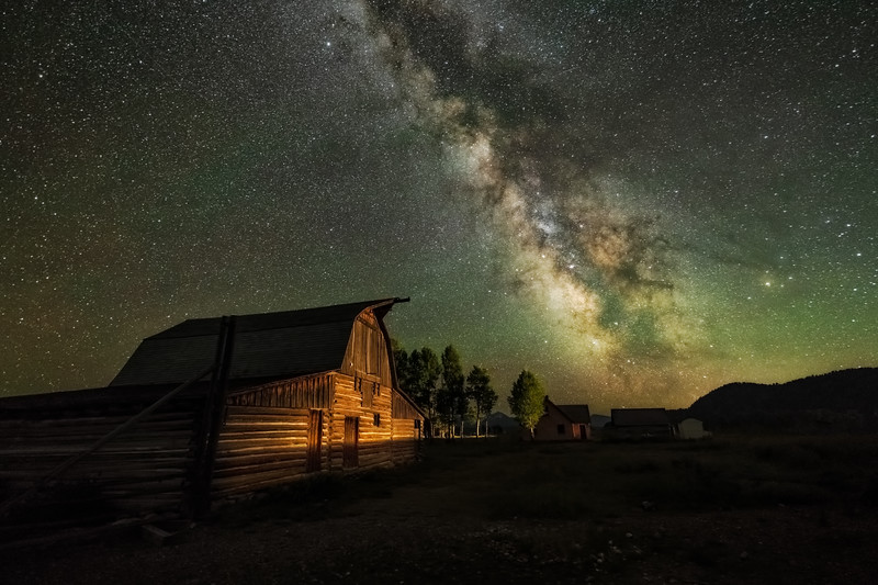 Milky Way over Moulton Barn