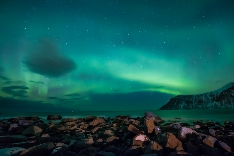 Northern Lights (Aurora Borealis) - Lofoten Islands Norway