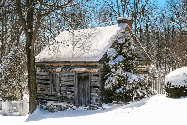 Forgotten Cabin in the Snow