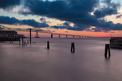 Astoria-Megler Bridge at Sunset