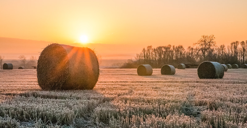 Sunrise over the Bales