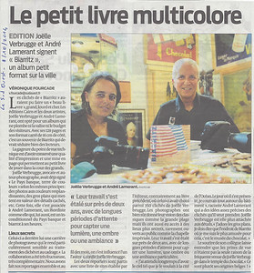 """""""Le Sud Ouest"""" - 8 octobre 2014"""