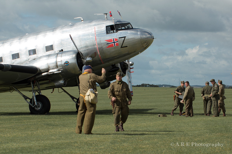 Duxford Douglas Dakota and crew