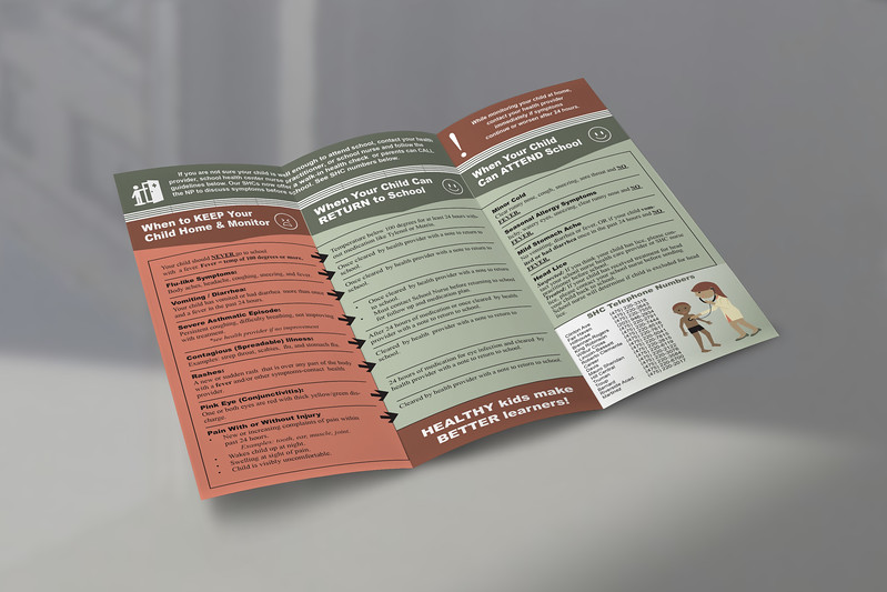Health Guidelines for Parents Brochure