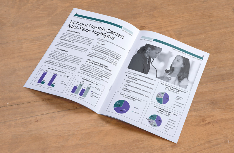 School Health Centers mid-year report brochure