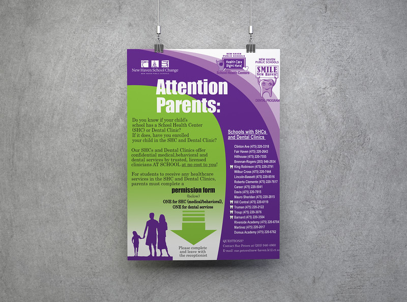 School Health Centers Sign-Up poster