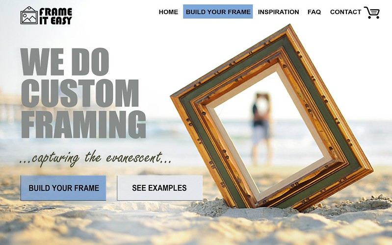 Homepage redesign for framing company