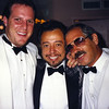 Sergio Mendez of Brasil '66 and LA PHIL Violists Evan Wilson and Jerry Epstein schmooze backstage at the Hollywood Bowl.