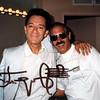 Maestro Yuri Temirkanov and LA PHIL Violist Jerry Epstein Backstage during intermission at the Hollywood Bowl