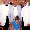 LA PHIL Violists Evan Wilson,  Jerry Epstein and son Blake visit backstage with Crooner Cab Calloway before the concert starts at the Hollywood Bowl