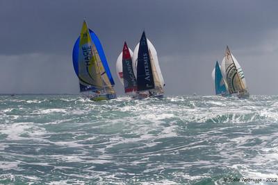 Départ de la transatlantique Concarneau/St Barth  - Avril 2012  Suivi de la course pour le skipper basque Amaiur ALFARO (sur EDM-Pays Basque Entreprises)