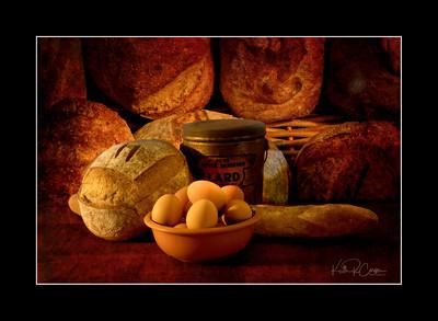 Loaves, lard and eggs