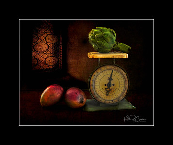 Artichoke and mangoes