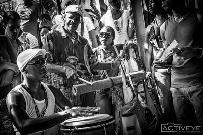 Percusiones en el Callejon Hamel - La Habana, Cuba