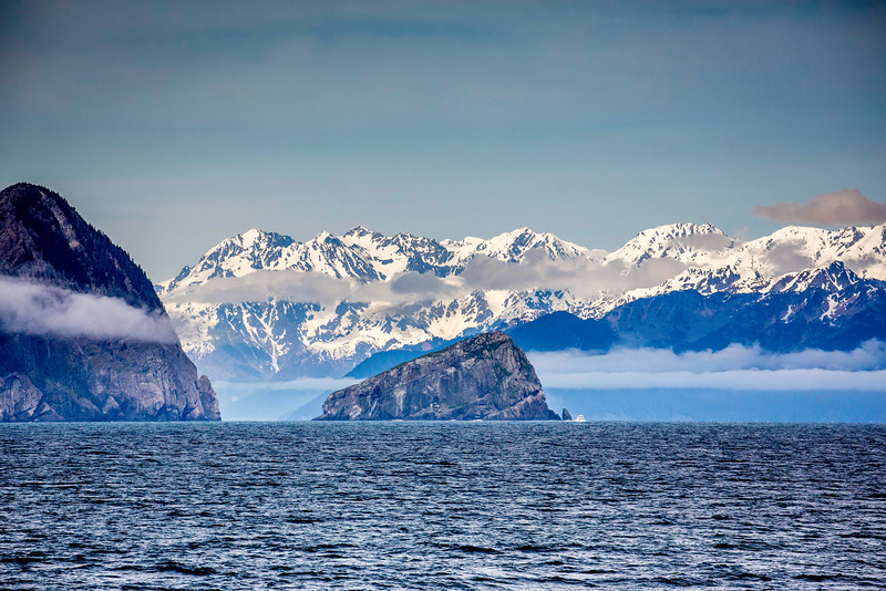 Entrance to Resurrection Bay from Gulf of Alaska