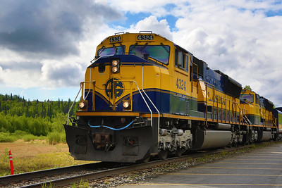 Alaska Railway, Anchorage bound for Denali Park