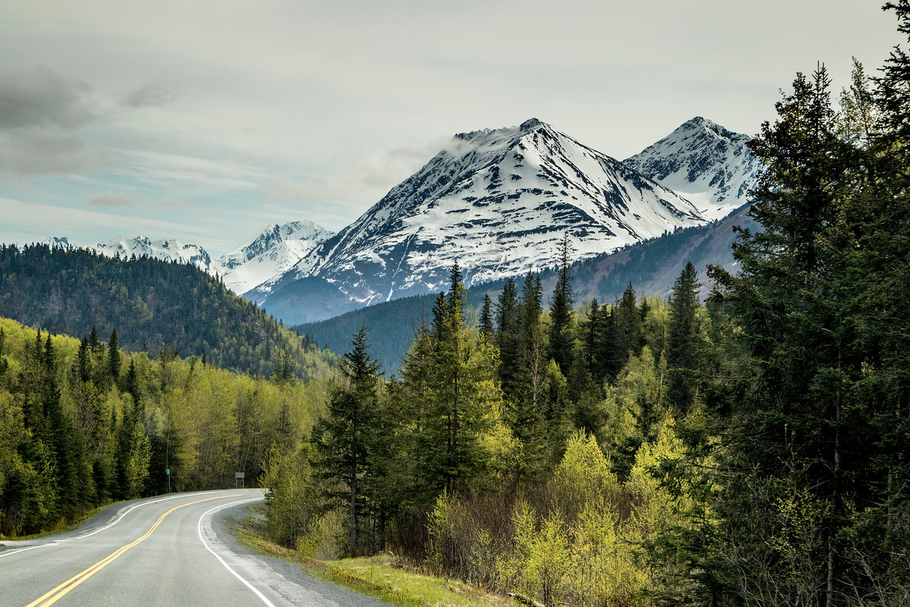 Road from Anchorage to Seward